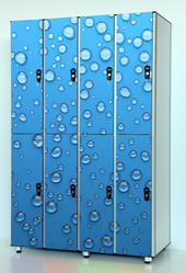 Шкафчики локеры из пластика HPL для раздевалок,  отелей,  бассейнов